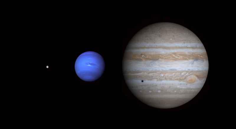 25 Moon Neptune Jupiter